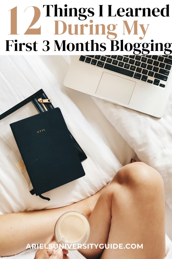 first 3 months blogging